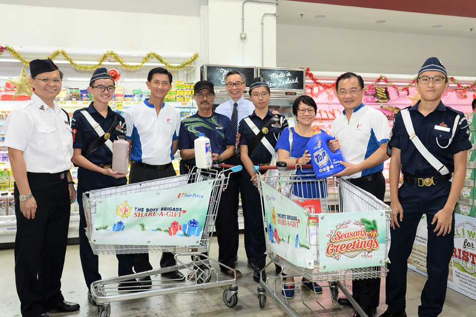 FairPrice Foundation's unstinting support towards Boys Brigade's Share-A-Gift Project (BBSG) (18 December 2017)