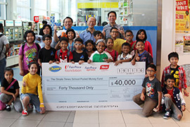 Cheers and FairPrice Foundation have one again partnered Yeo Hiap Seng to contribute towards the Straits Times School Pocket Money Fund